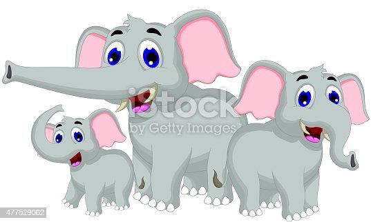 lustige elefanten cartoon und familie stock vektor art und mehr bilder von 2015 477529062 istock. Black Bedroom Furniture Sets. Home Design Ideas