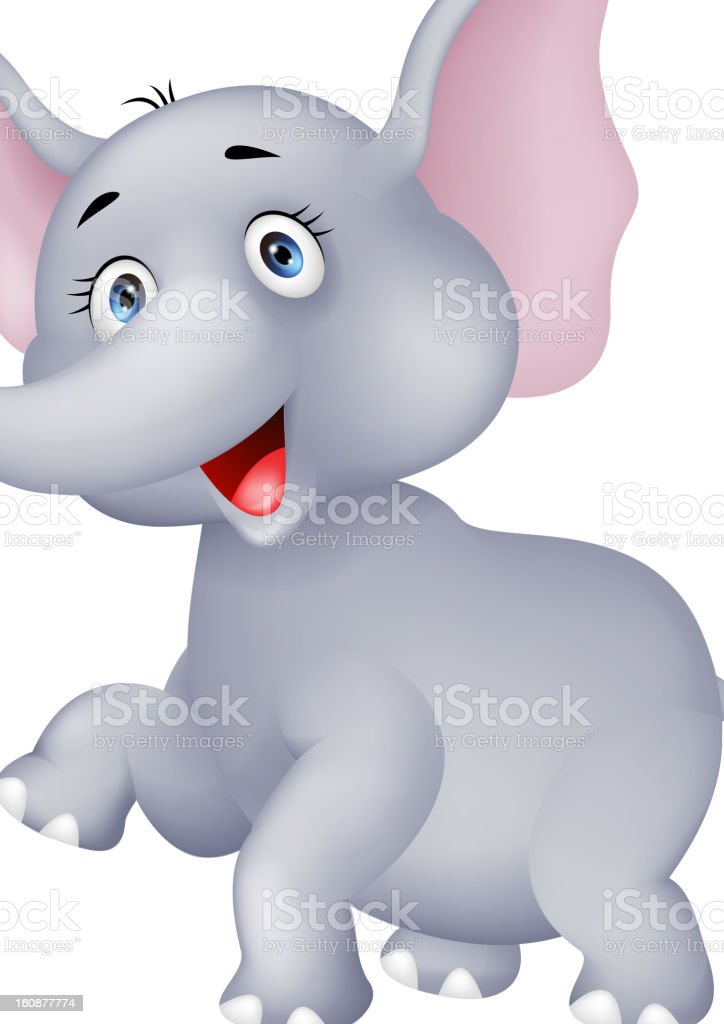 lustige elefanten cartoon stock vektor art und mehr bilder von charakterkopf 160877774 istock. Black Bedroom Furniture Sets. Home Design Ideas