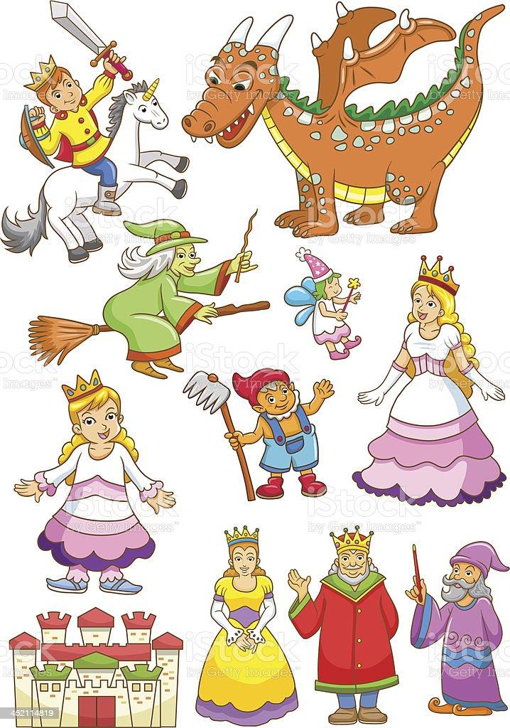 funny fairy set. royalty-free stock vector art