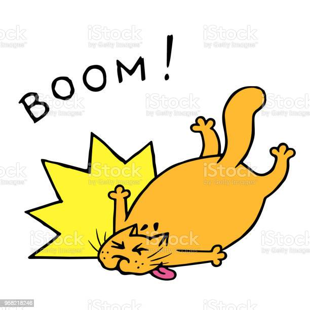 Funny fat cat fell with a crash vector illustration vector id958218246?b=1&k=6&m=958218246&s=612x612&h= tz ilkyhmeac25moeehkkmcemyfrtpwxrcogzshfns=