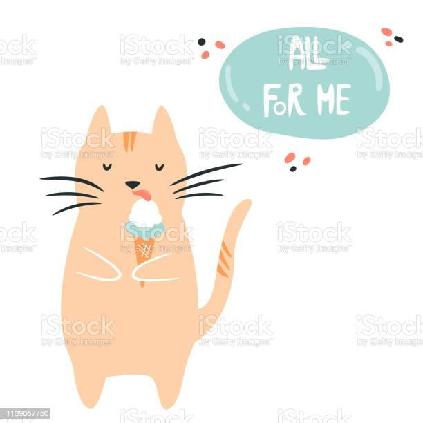 Funny fat egoist cat eating ice cream loving myself concept vector vector id1139057750?b=1&k=6&m=1139057750&s=612x612&h=p nrue5kvuia2r2o psbbdvhocju0foa6ukicvgxj3w=