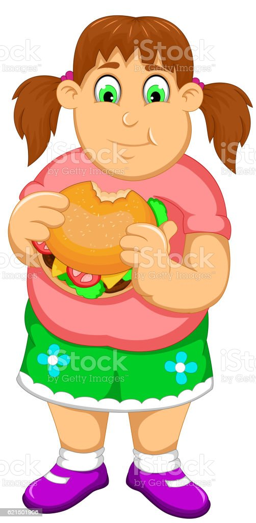 funny fat woman cartoon eating burger Lizenzfreies funny fat woman cartoon eating burger stock vektor art und mehr bilder von burger