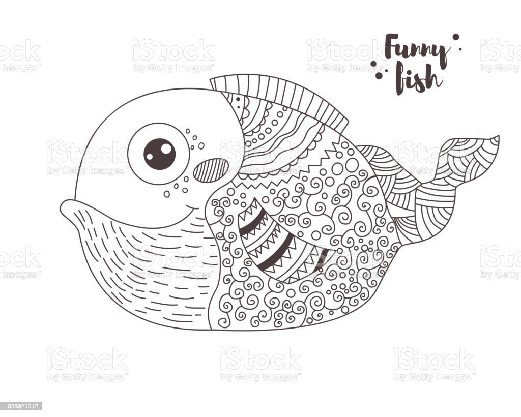 Funny Fish Coloring Book Stock Illustration Download Image Now Istock