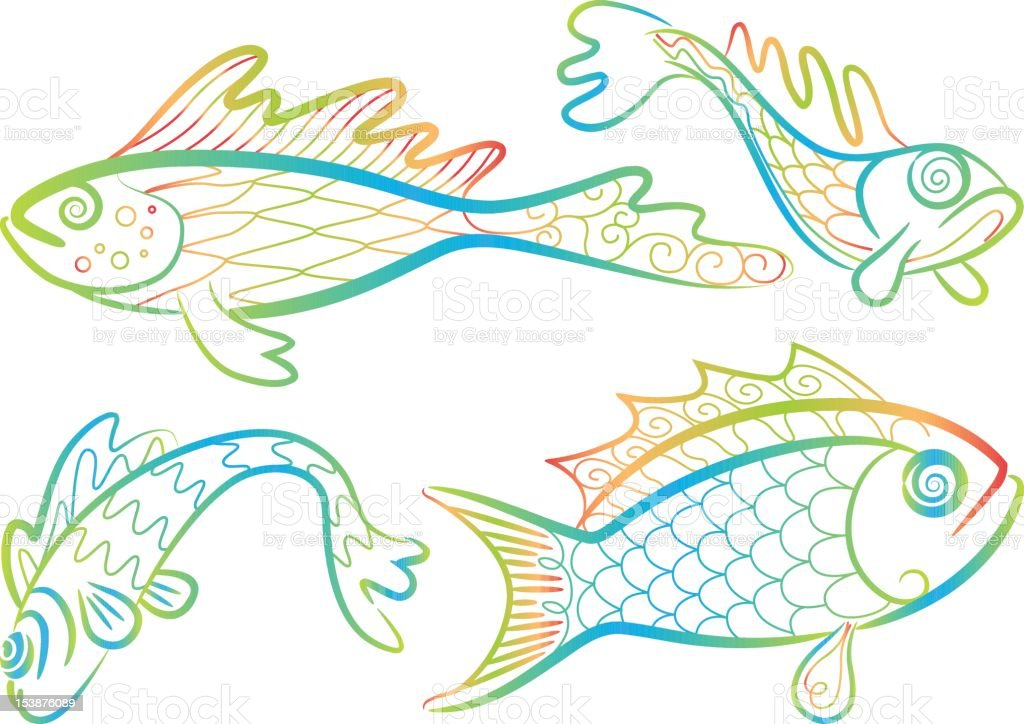 Funny Fishes royalty-free funny fishes stock vector art & more images of animal themes