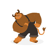 istock Funny Fluffy Monster Character 1290289020