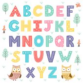 Funny forest alphabet for kids
