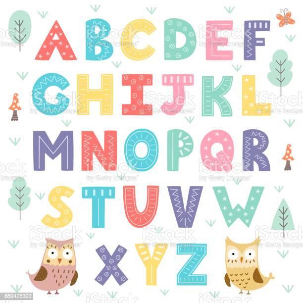 Funny forest alphabet for kids vector id859425322?b=1&k=6&m=859425322&s=612x612&h=fv0hs7q7kzlwjickqoifexchzvywdxpeudfomiit00k=