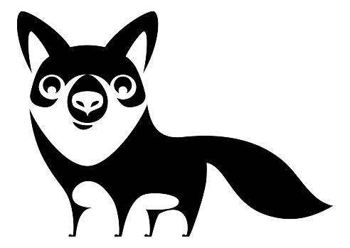 funny fox symbol