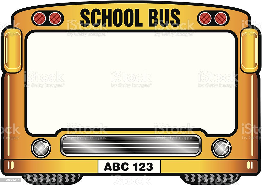 School Bus Picture Frame Craft