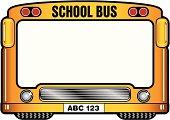 Funny frame - American school bus