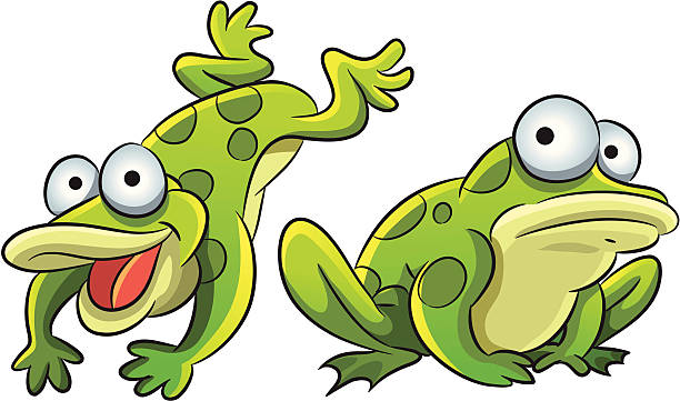 Jumping Frog Clip Art, Vector Images & Illustrations - iStock