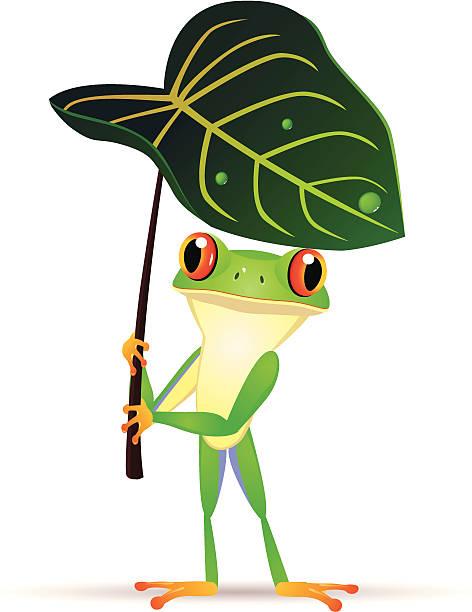 Royalty Free Frog On Leaf Clip Art, Vector Images ...
