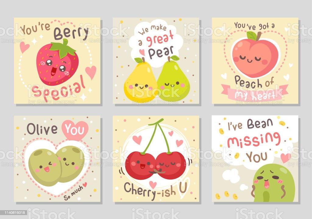 Fruits Droles Amour Citations Ensemblecarre Vecteurs Libres De Droits Et Plus D Images Vectorielles De Aliment Istock