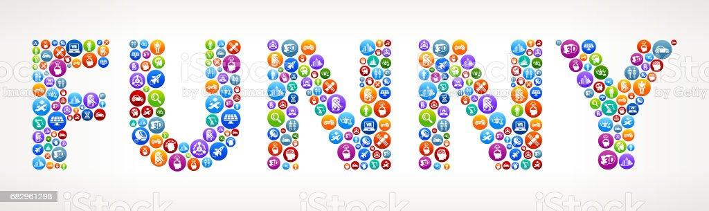 Funny Future and Futuristic Technology Vector Buttons. royalty-free funny future and futuristic technology vector buttons stock vector art & more images of alien