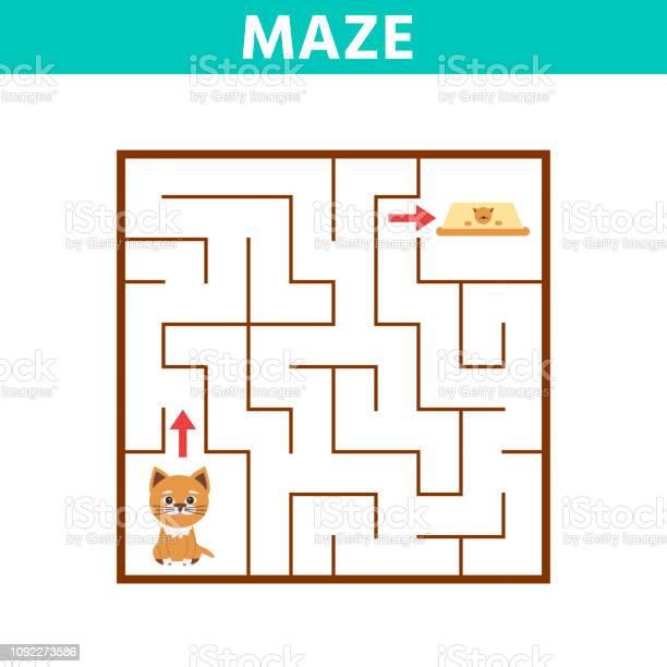 Funny game for children education maze help the cartoon cat vector id1092273586?b=1&k=6&m=1092273586&s=612x612&h=12gkdhxgensybs8nlhotza2c4ctv2jhhgohogz1la7s=