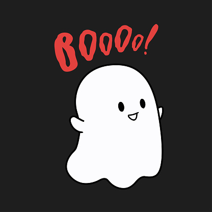 Funny ghost typography Fashion slogan