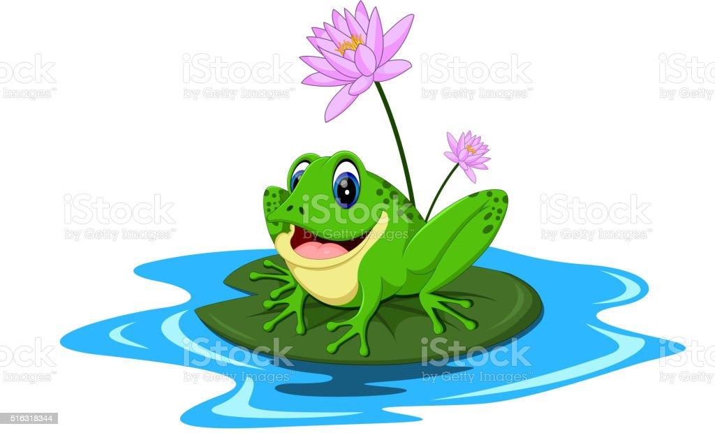 Lustige Grüne Frosch Comic Stock Vektor Art Und Mehr Bilder Von