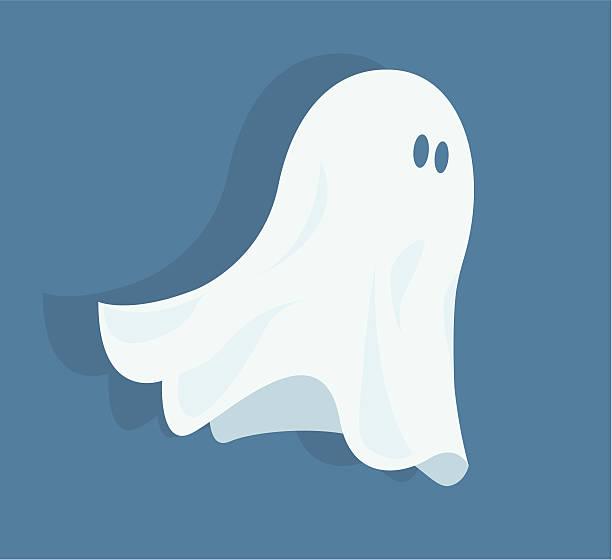 bildbanksillustrationer, clip art samt tecknat material och ikoner med funny halloween ghost - spöke