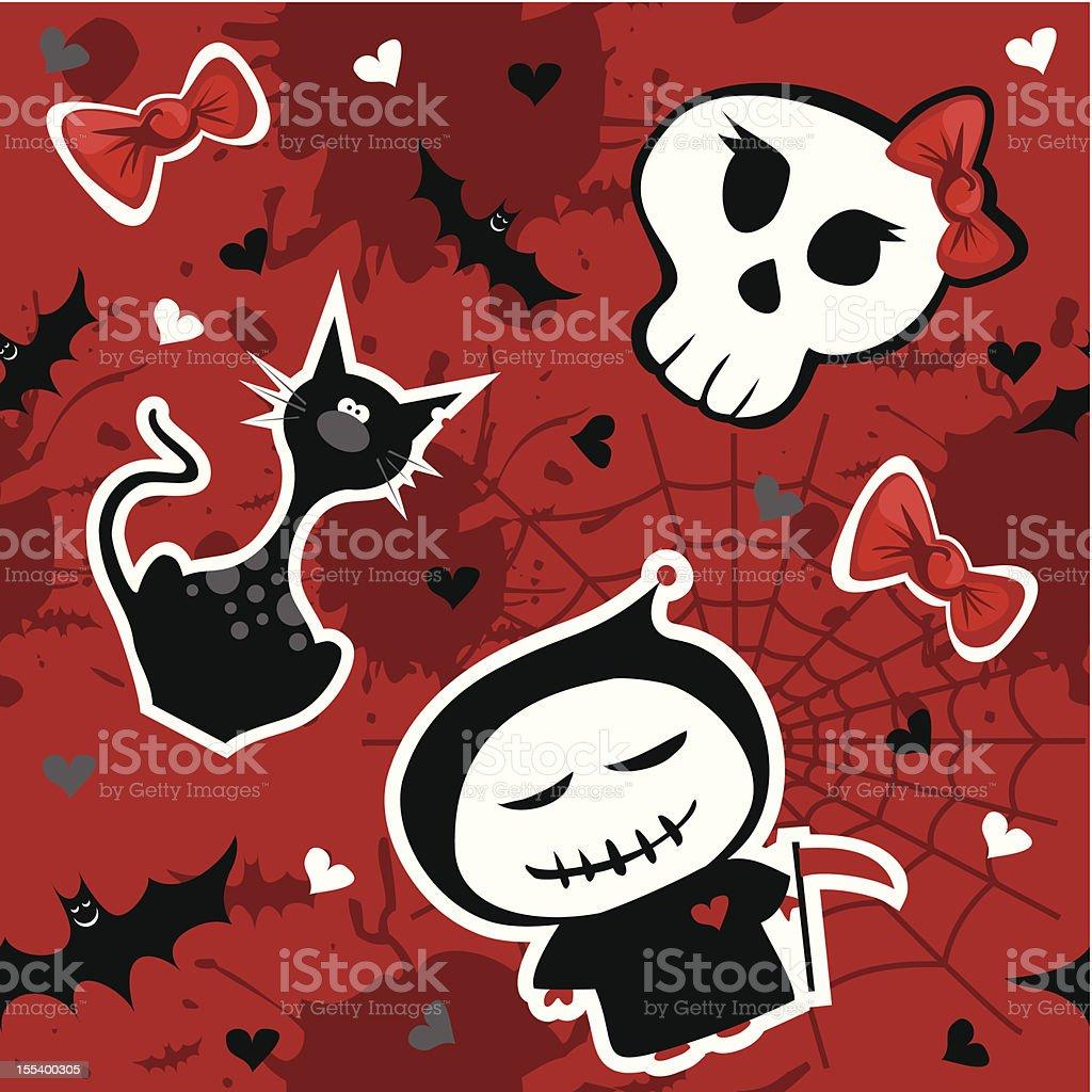 Funny halloween pattern royalty-free stock vector art