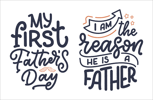 Funny hand drawn lettering quotes for Family Look design. Cool phrases for t shirt print. Inspirational slogans for Father's Day. Funny typography fashion template. Vector