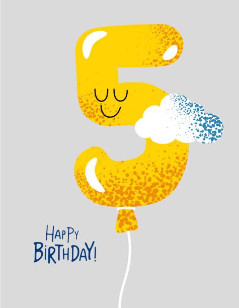 Royalty Free Cartoon Of Happy Birthday Text Cards Clip Art Vector