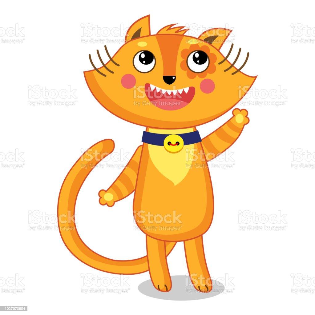 おもしろ猫は幸せなベクトル イラスト白で隔離 アイコンのベクターアート素材や画像を多数ご用意 Istock