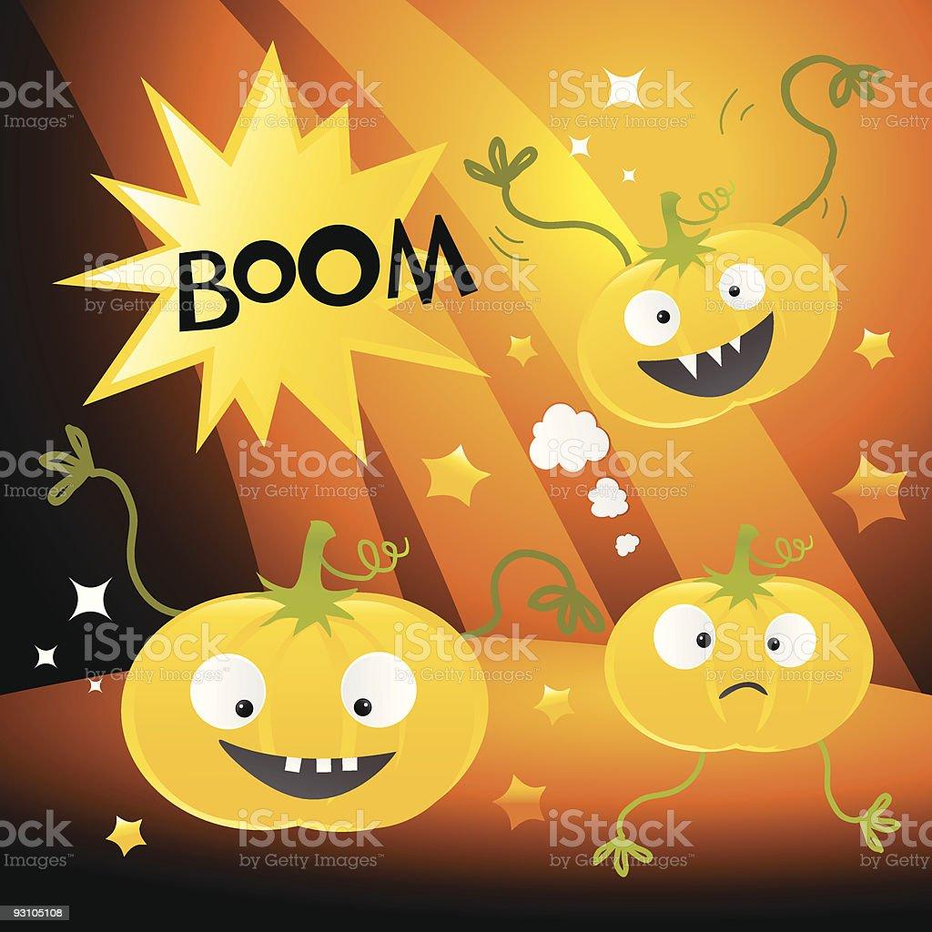 funny helloween pumpkins royalty-free stock vector art