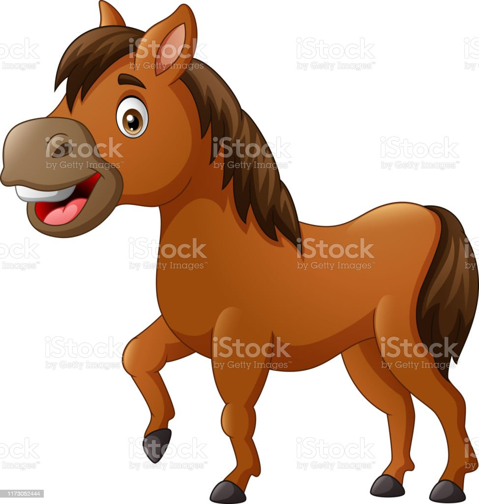 Funny Horse Cartoon Stock Illustration Download Image Now Istock