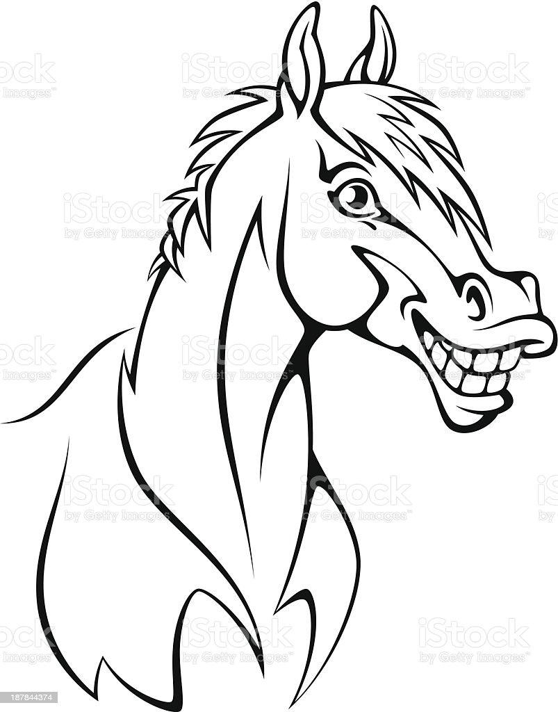 Funny horse royalty-free stock vector art