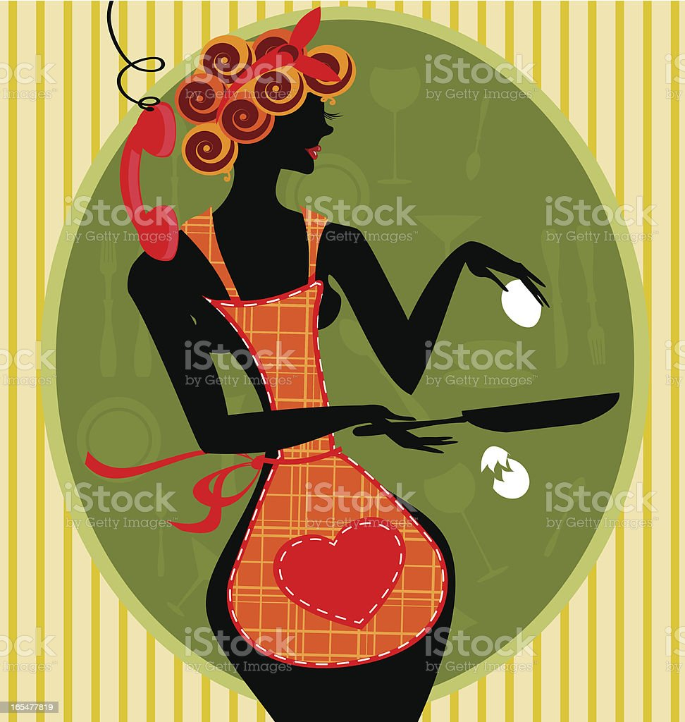 funny housewife royalty-free stock vector art