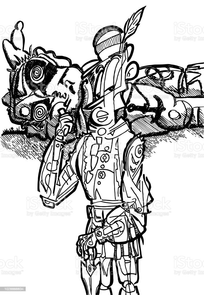 Ilustración de Divertida Ilustración De Derrota En Batalla De Dos ...