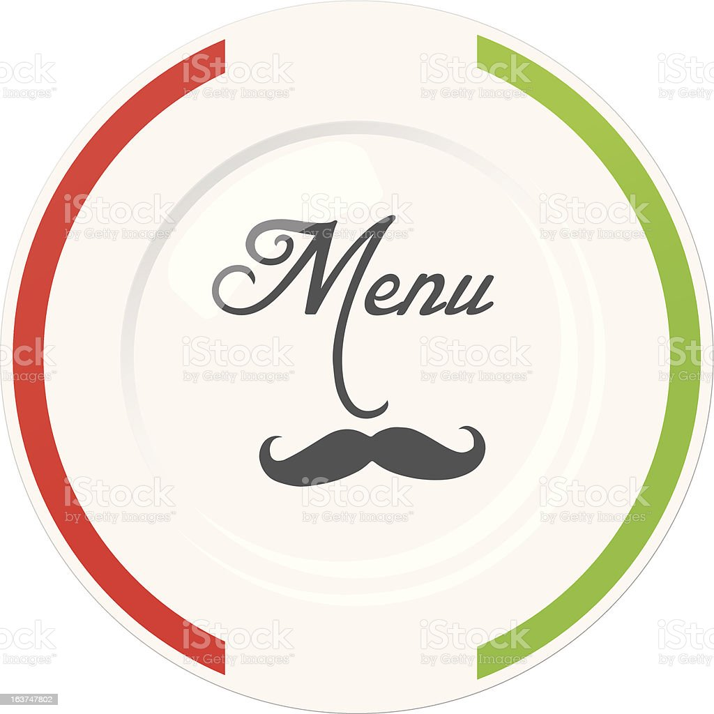 Funny Italian Restaurant Menu Cover Design Template Stock ...