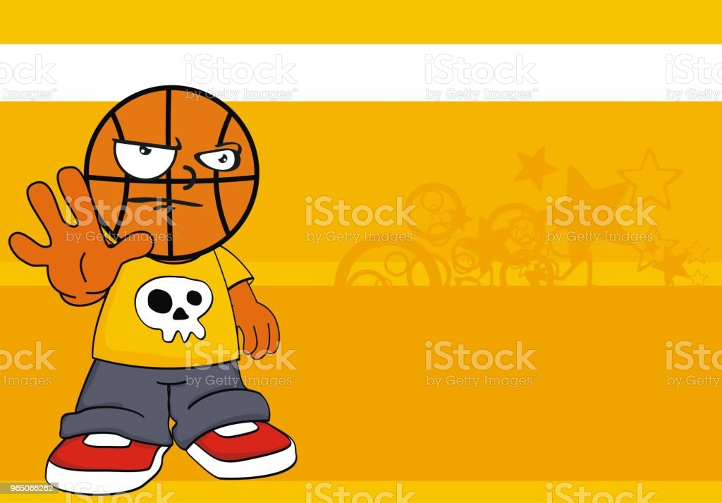 funny kid basketball head cartoon background royalty-free funny kid basketball head cartoon background stock vector art & more images of basketball - sport