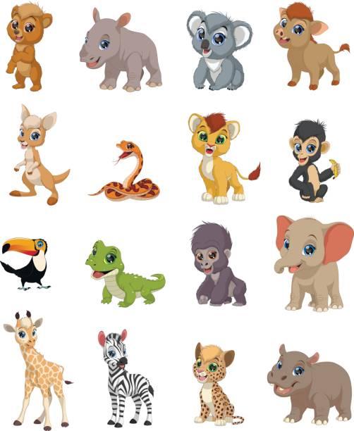 lustige kinder tiere - giraffenhumor stock-grafiken, -clipart, -cartoons und -symbole