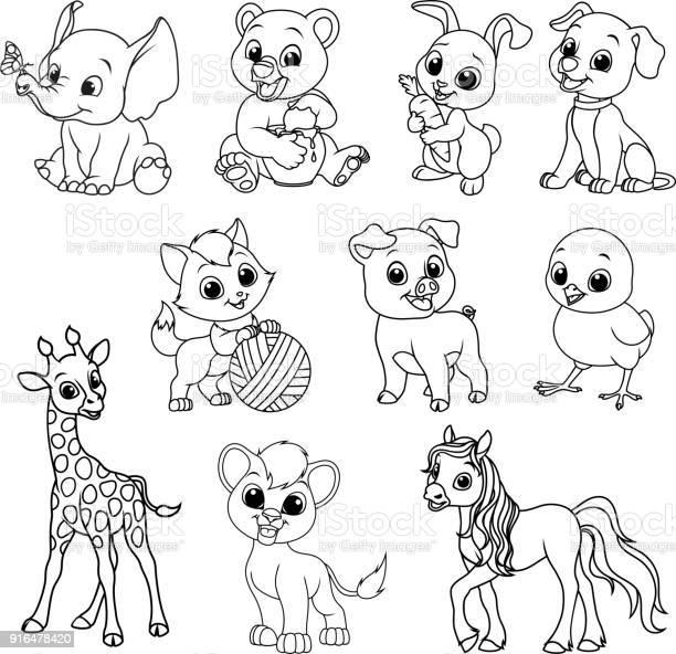 Funny kids animals vector id916478420?b=1&k=6&m=916478420&s=612x612&h=u414gpapdb54kahmutwrfncmfnajhvyp yuwpum9svy=