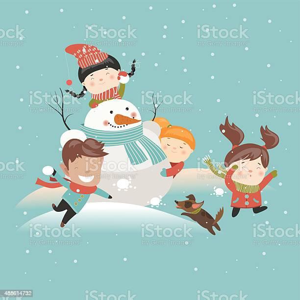 Funny kids playing snowball fight vector id488614732?b=1&k=6&m=488614732&s=612x612&h=sbrhvb5ygcn0t361ocpmrxflupaz8u7hu1 zvuyogvs=
