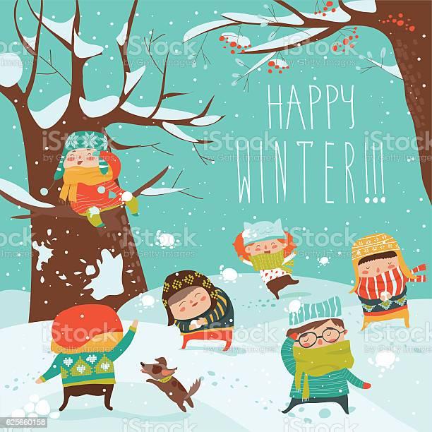 Funny kids playing snowball fight vector id625660158?b=1&k=6&m=625660158&s=612x612&h=htmx4czfnnbfvhdtxrf2kwjl bsyyxvdqni bmt8nsc=