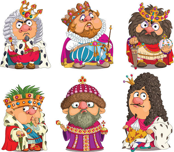 ilustrações de stock, clip art, desenhos animados e ícones de funny kings - enjoying wealthy life