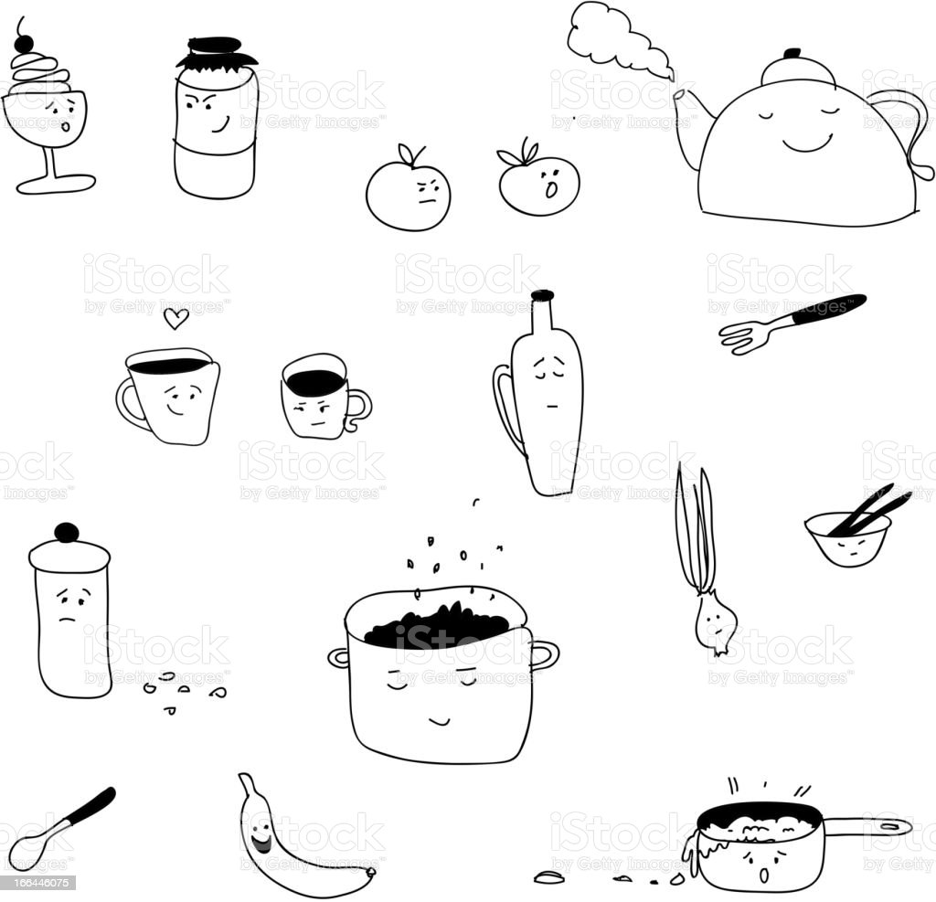 Funny kitchen royalty-free stock vector art