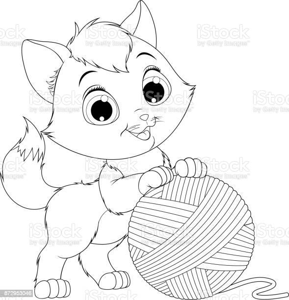 Funny kitten with a ball of threads vector id872953046?b=1&k=6&m=872953046&s=612x612&h=r3t bcrqauhvcyrwenrekmrggeb2wjnqkbjhffi6t9k=