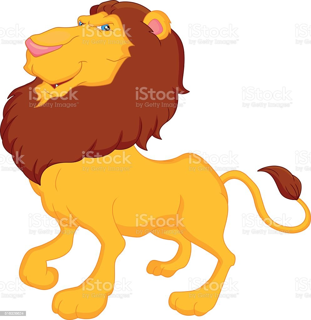 funny lion cartoon stock vector art 516326624 istock