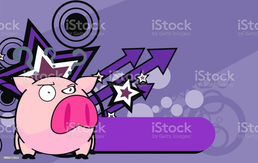 funny little pink pig ball cartoon expression background royalty-free funny little pink pig ball cartoon expression background stock vector art & more images of animal