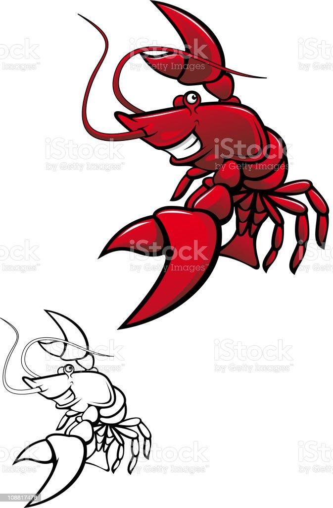 Funny lobster royalty-free stock vector art