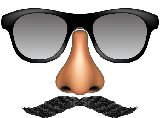 fcfb7267f04 Funny mask vector art illustration · Glasses Silhouettes vector art  illustration