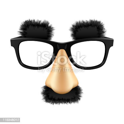 istock Funny mask. Vector. 115348012