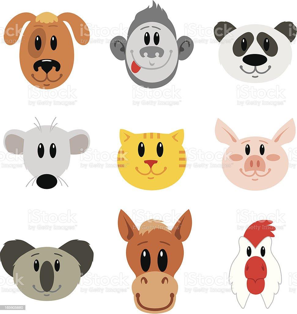 Funny masks Animals royalty-free stock vector art