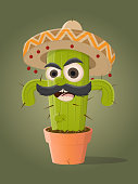 funny mexican cactus clipart