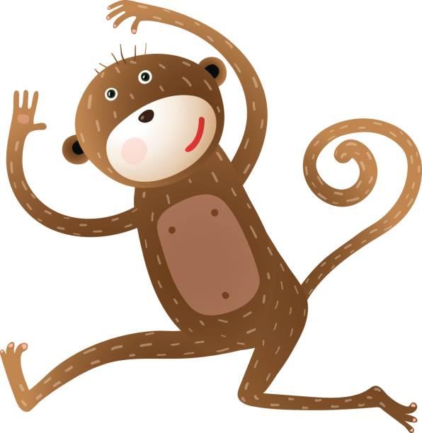 Lustige Affen Tier Comic – Vektorgrafik