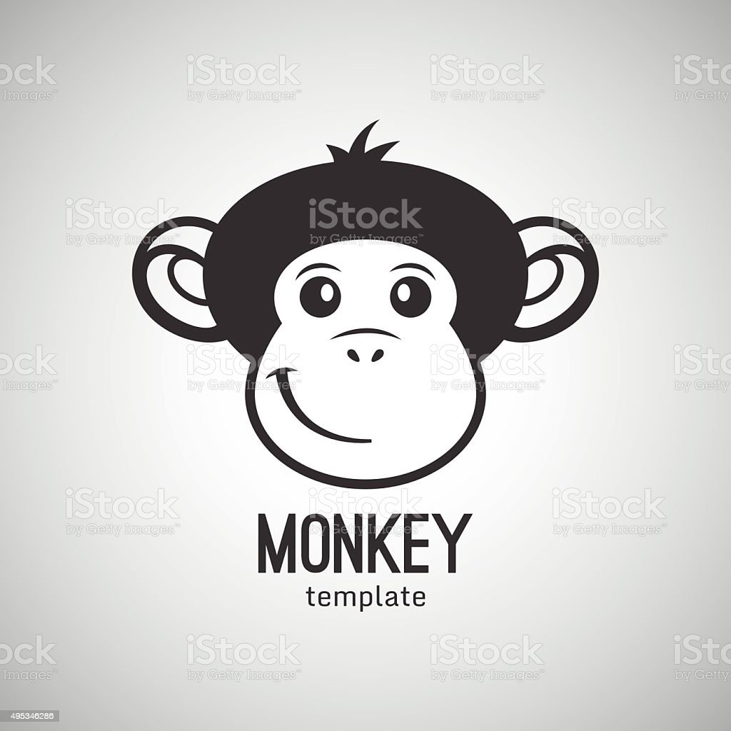 Lustige Affen Gesicht Neues Jahr 2016 Vektorillustration Stock ...