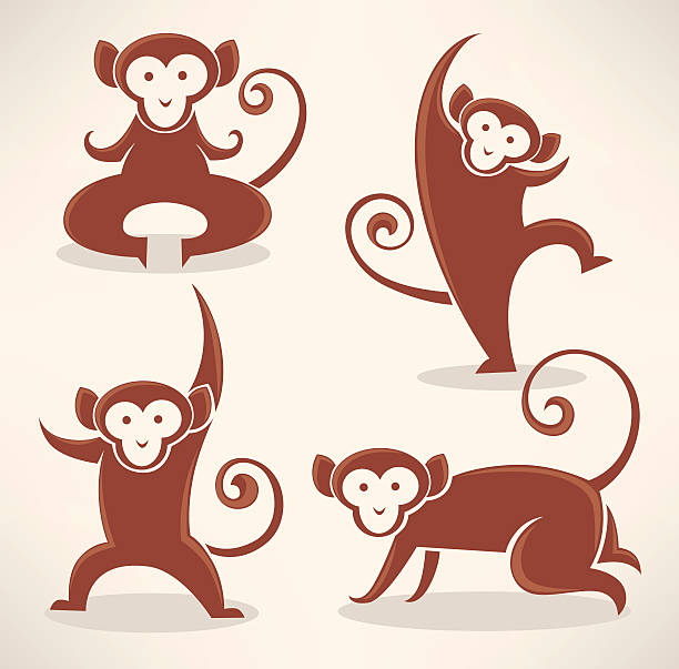 Royalty Free Chimps Playing Clip Art Vector Images Illustrations